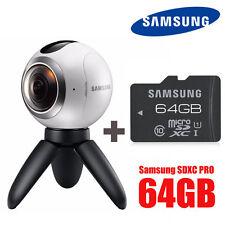 SAMSUNG GEAR 360 Degree CAM VR Camera SM-C200 with microSDXC 64GB 1year warranty