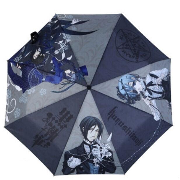 Black Butler Kuroshitsuji Ciel Sebastian Anime Manga-style Foldable Umbrella
