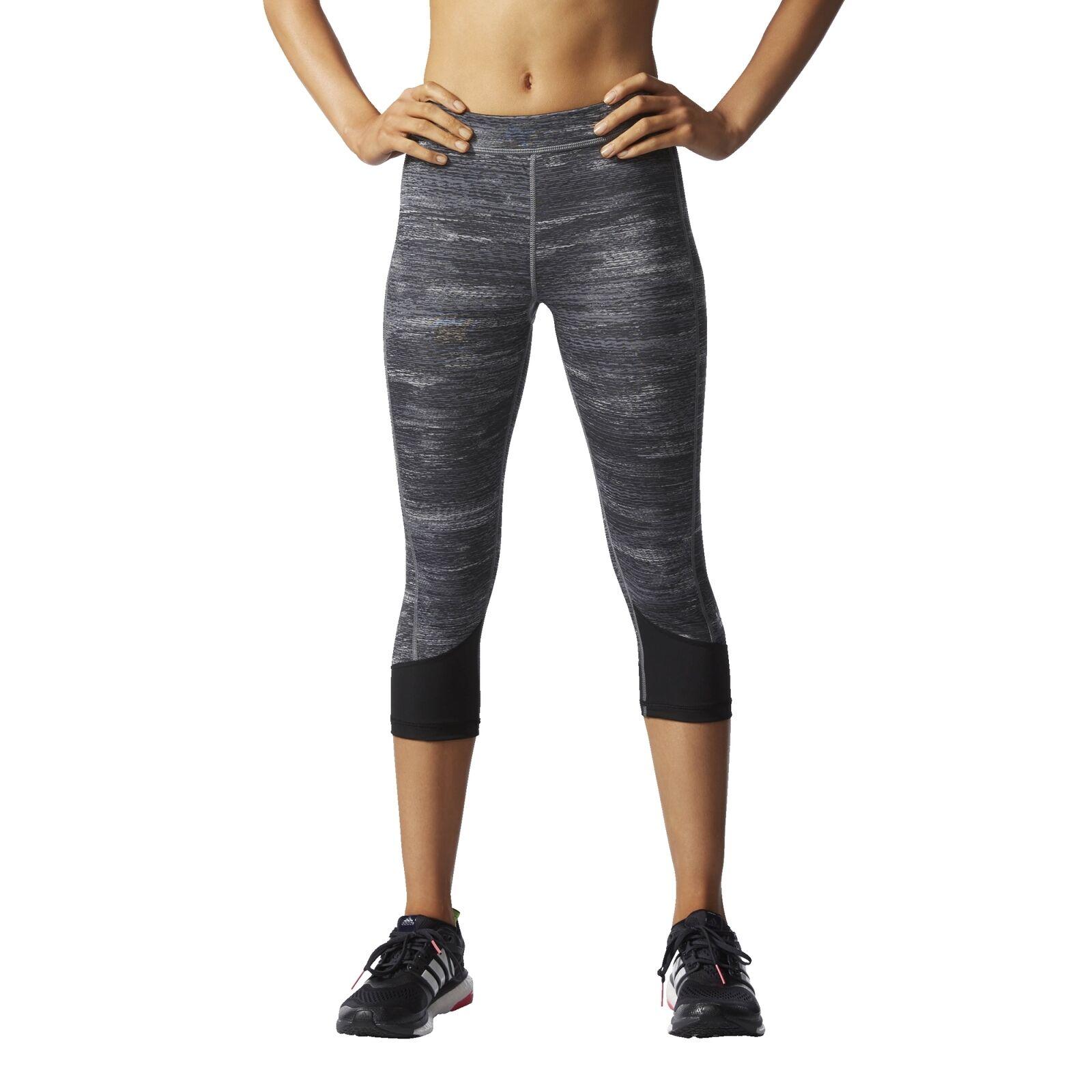 Adidas Performance TF C MACROHTH Damen Sporthose Fitnesshose Caprihose  | Attraktive Mode