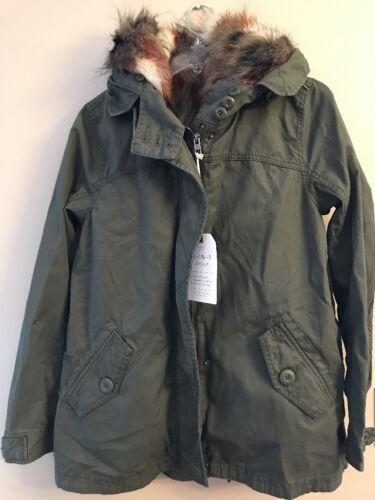 NWT AMERICAN EAGLE Misses Faux Fur Vest//Parka Sz M-L-XL