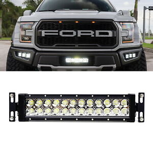 Details About Invisible Behind Oem Grill Mount Led Light Bar Kit W Wiring For 17 Ford Raptor