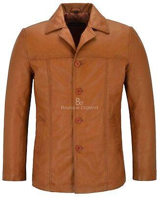 Men/'s  green 4010 Classic Hip Length Coat Real Lambskin Nappa Leather Jacket