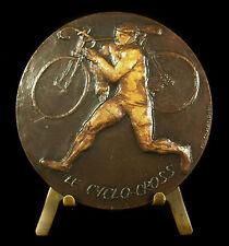 Médaille 69 mm cyclo-cross sport cyclisme vélo bike cycling par Comandini Medal