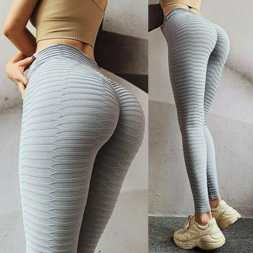 Womens Seamless Yoga Pants Butt Lift Leggings Gym Sports Stretch Trousers A08