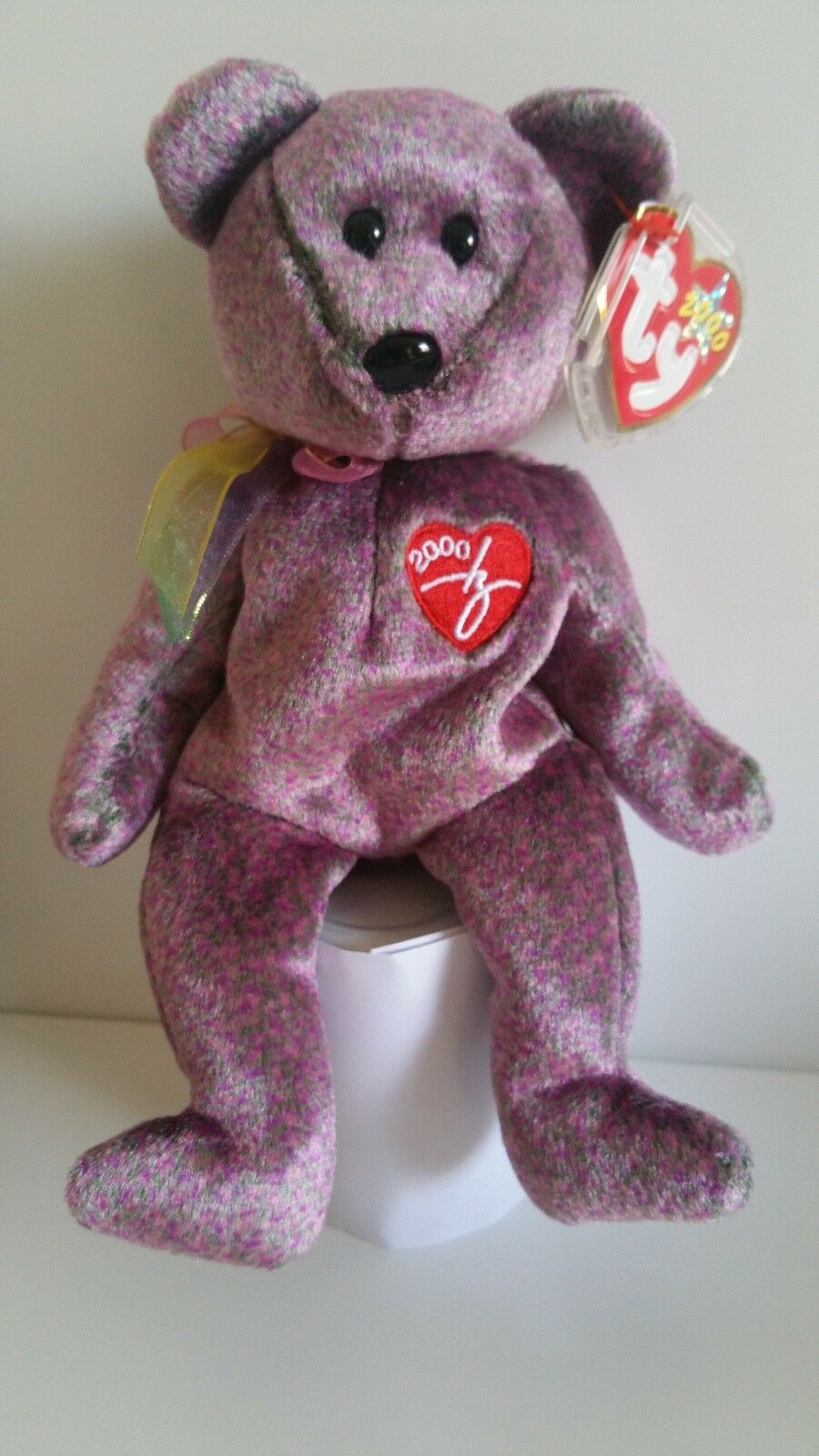 Signature 2000 Bear  Ty Beanie Baby - Rare Retired BB Bear 03 Sign 00