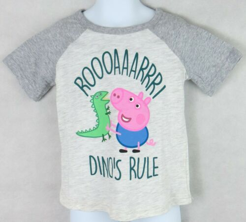 Peppa Pig Toddler Boys T-Shirt Officially Licensed Jumping Beans Dinos Rule