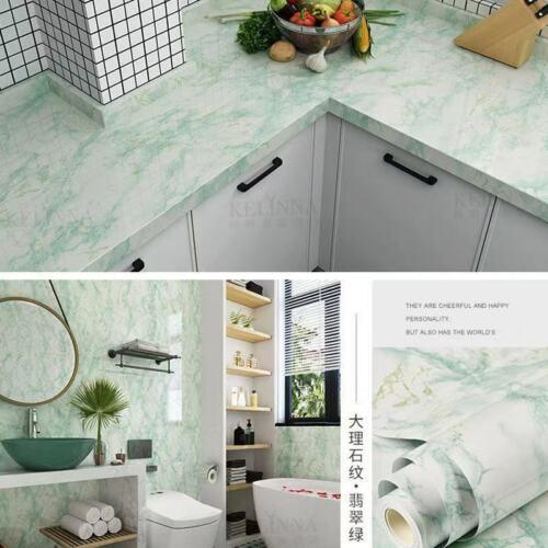 Marble Wall Sticker Self Adhesive Peel /& Stick Wallpaper PVC Kitchen Countertop