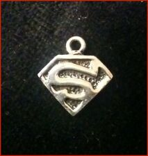 Sterling Silver Superman Pendant - Small