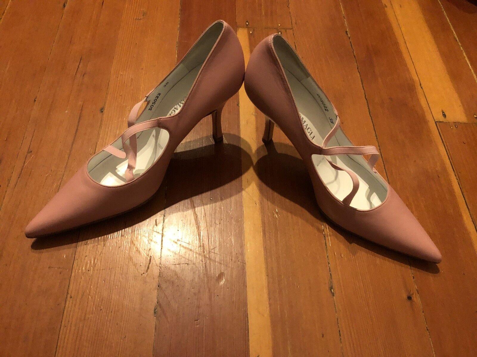 Bruno Magli Rosa Pointed High Heel Stiletto Pumps Elastic Heels Heels Heels Sz 38 EU 8 US 1d0ad2