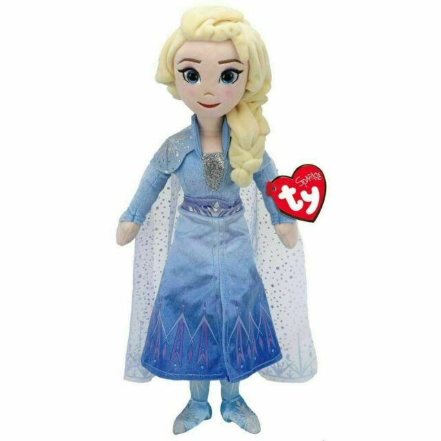 Elsa Frozen II Benie Babies Ty stuffed animal Plush figure 16/'