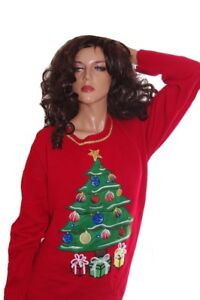 image is loading womens christmas tree ugly christmas sweater party gift - Womens Christmas Sweaters