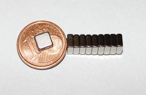 50 pcs néodyme aimants carré 5 x 5 x 2 mm power aimant pour reedkontakte