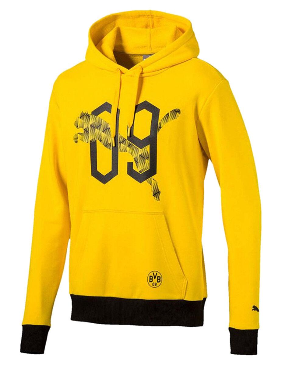 Puma BVB Fan Hoody Borussia Dortmund 09 Herren Sweatshirt 752863 01