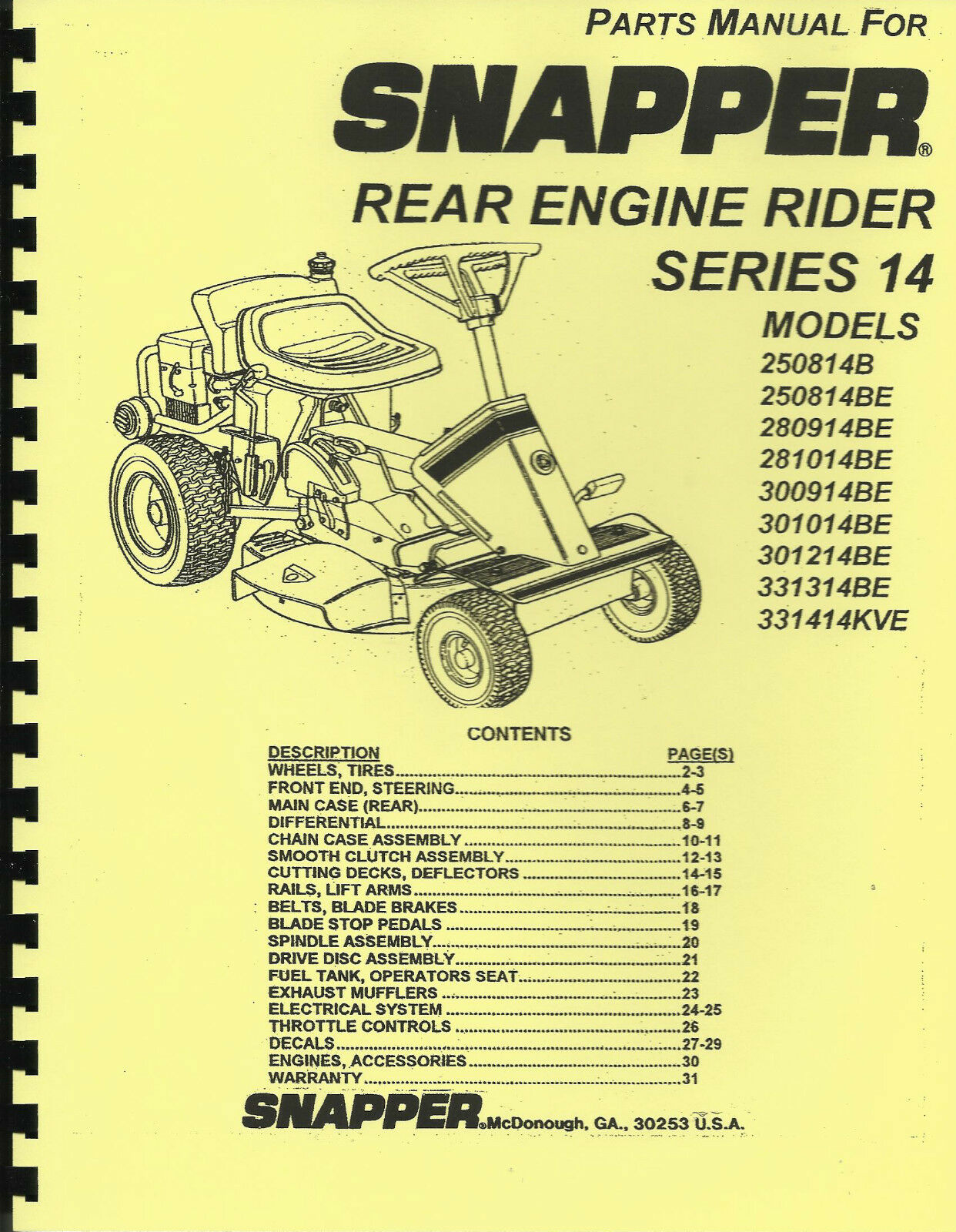 Wiring Schematic Kohler Engine Diagram And Parts List For Snapper