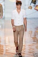 Sold Out $1,975 Versace Laser-cut Eyelet Jeans Pants Size 32