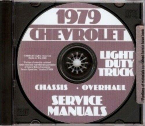 Suburban /& Truck Shop Manual CD Van Blazer CHEVROLET 1979 Pickup
