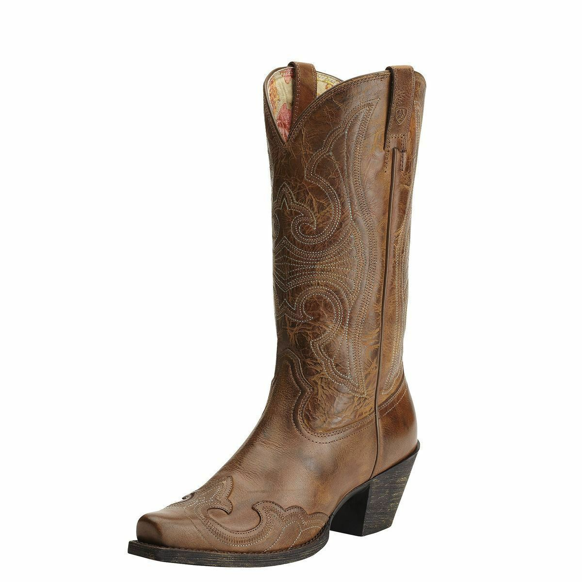 LADIES ARIAT WESTERN BOOTS ROUND UP WINGTIP IN SANDSTORM 10015290