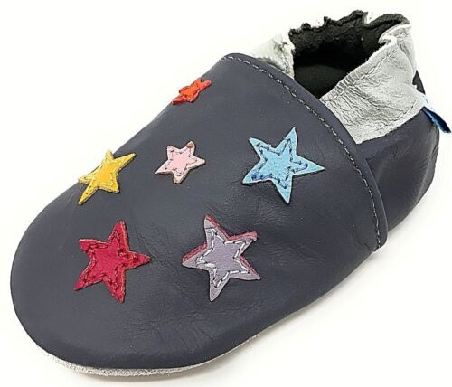 12-18,18-24 Mths /& 2-3 Yrs NEW SOFT LEATHER BABY SHOES 0-6 LITTLE STARS 6-12