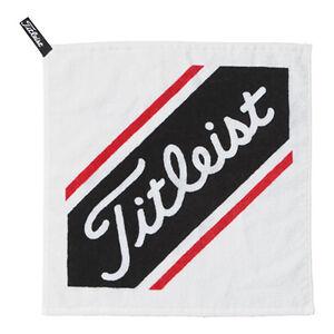 Titleist-Japan-Golf-Serviette-a-main-avec-crochet-blanc-ajtwh-6-2019-nouveau
