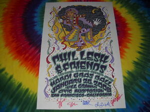 PHIL-LESH-amp-FRIENDS-MARDI-GRAS-BILL-GRAHAM-SIGNED-CONCERT-POSTER-JAN-26-2008-NR