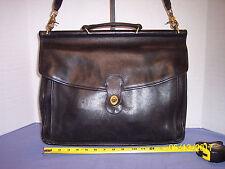 Vintage Coach Beekman Black Leather Messenger Bag Briefcase #006-319