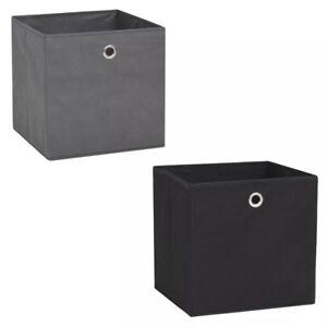 vidaXL-Aufbewahrungsbox-Vliesstoff-32x32x32cm-Faltbox-Stoffbox-mehrere-Auswahl