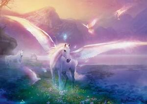 Magical unicorn poster fantasy horse wall art print photo poster a4 image is loading magical unicorn poster fantasy horse wall art print voltagebd Gallery