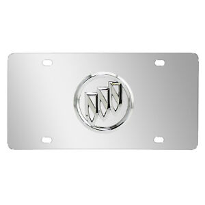 Buick-3D-Logo-Mirror-Chrome-Stainless-Steel-License-Plate
