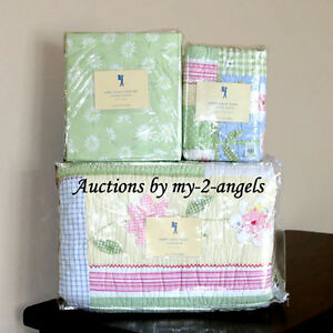New Pottery Barn Kids Happy Daisy Floral Twin Quilt Sham