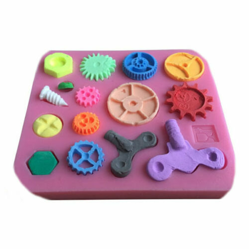 Keys gears etc 15 Cav Silicone Mold for Fondant Gum Paste Chocolate Crafts