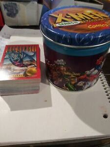 1993-X-Men-Series-2-Complete-Base-Set-With-Collector-Tin