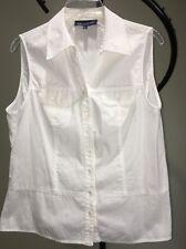 Jones New York Signature White Cotton Sleeveless Top Blouse Women's XL 18-20