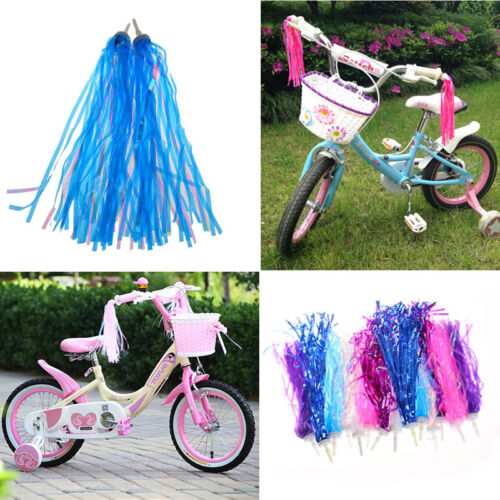 2pcs Cycling Bike Bicycle Tricycle Kids Boys Girls Handlebar Streamers Tassels