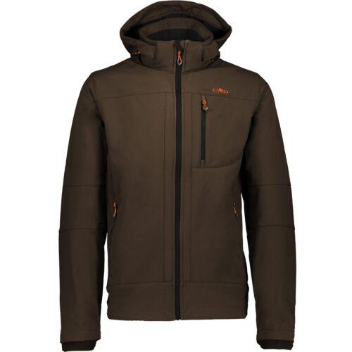 CMP Softshelljacke Veste on Jacket Zip Hood Marron Coupe-vent saumon
