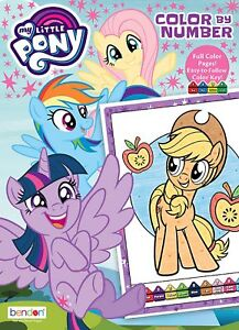 Details About New My Little Pony 48 Page Color By Number Coloring Book With Color Guide
