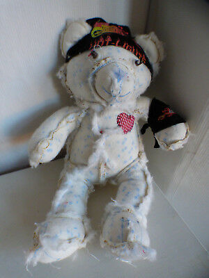 """Ooak Kat Croker Inside Out Zombie Pet Plushie Relieving Heat And Thirst. """"zombear"""" 14"""" High"""