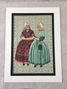 1932 Vintage Costume Stampa Olandese Frisia Donna Moda Paesi Bassi Holland