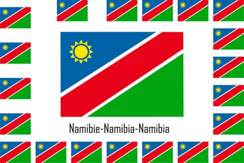 Assortiment lot de 25 autocollants Vinyle stickers drapeau Namibie-Namibia