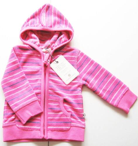 Frottee Jacke Gr.56 62 68 74 bellybutton NEU m.E pink gestreift Kapuze baby