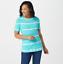 Denim-amp-Co-Tie-Dye-Perfect-Jersey-Round-Neck-Top-Women-039-s-Large-Miami-Green-QVC thumbnail 2