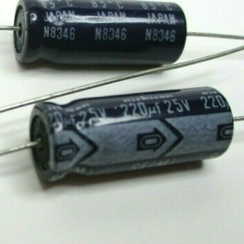 10pcs Nichicon 220uF 25V 85C Axial Electrolytic Capacitor Free Shipping USA