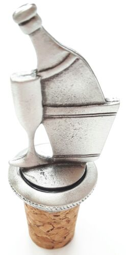 Bubbly Celebration Handcrafted From English Pewter Bottle Stopper GiftBag