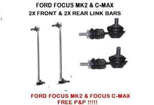FORD-Focus-MK2-amp-Focus-C-Max-Anteriore-e-Posteriore-Anti-Roll-Bar-Stabilizzatore-goccia-link-X2