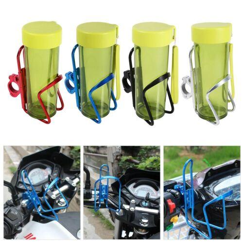 Motorcycle Motorbike Drink Cup Holder Water Beverage Support Handlebar Bottle