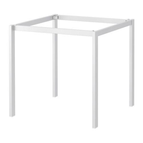 IKEA Melltorp Underframe White 29x29 Square Table Frame | EBay
