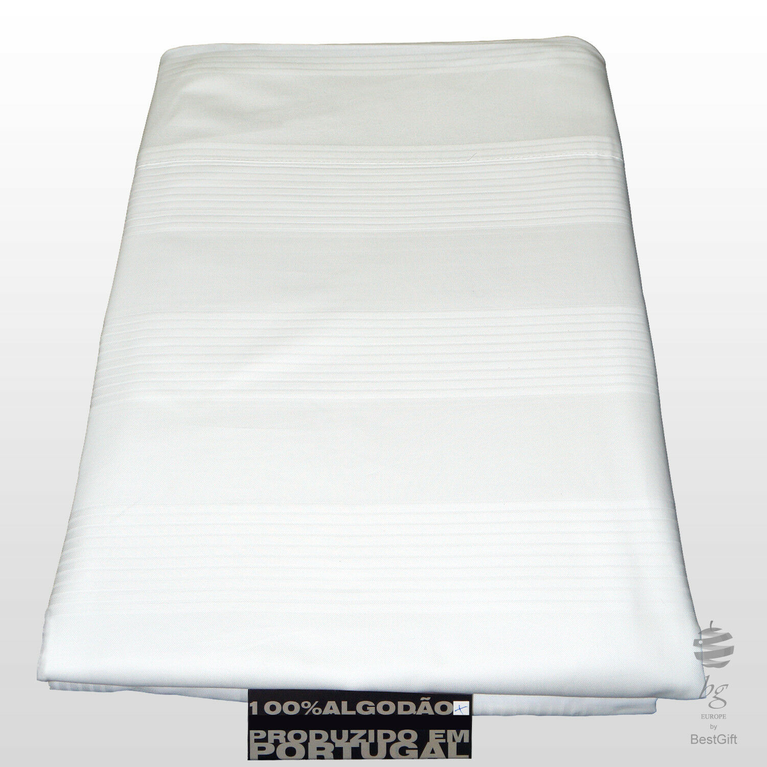 SET OF SINGLE SATIN BED SHEETS - 100% PERCALE COTTON - STRIPES PATTERN