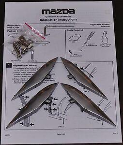 Mazda-RX-8-RX8-Luftauslassapplikationen-LAA-Kiemen-Aluminium-NEU-Bodykit-Tuning
