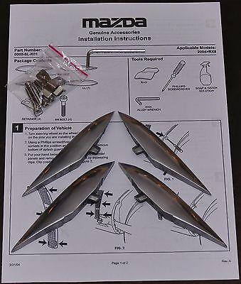 Mazda RX-8 RX8 Luftauslassapplikationen LAA Kiemen poliert Aluminium NEU Bodykit