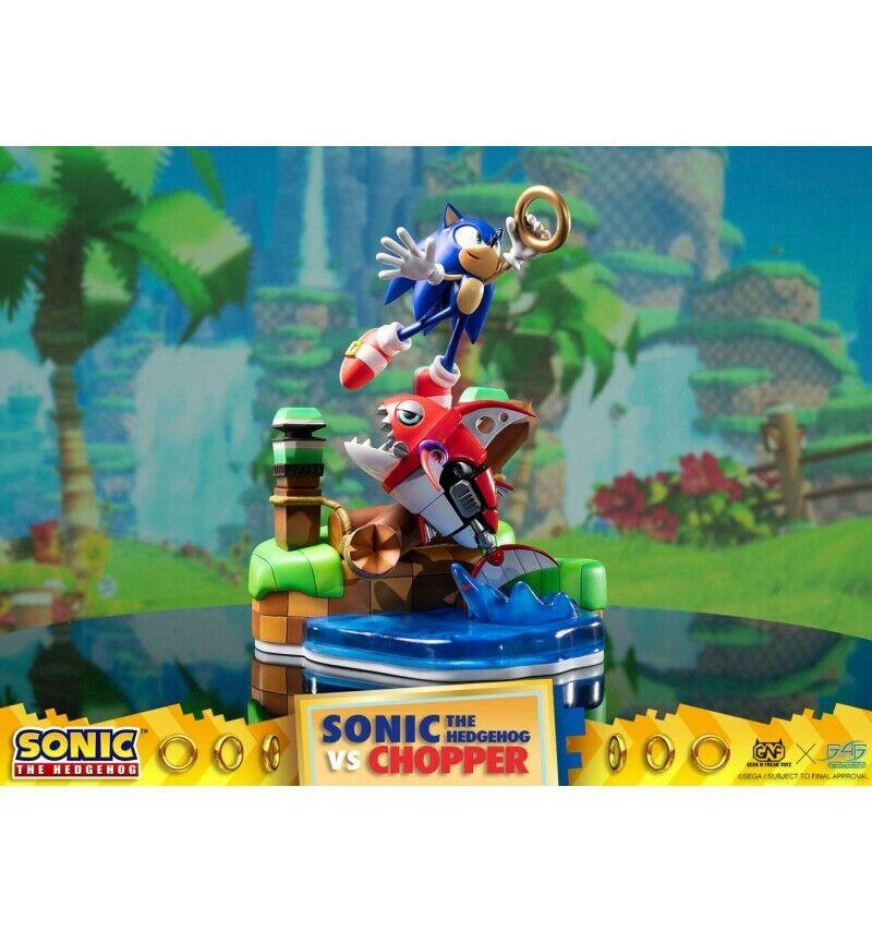 First 4 Figures - Sonic Generations diorama - Sonic vs Chopper - 28 cm