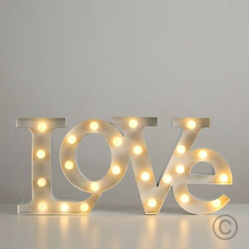 Contemporary Warm White 24 LED Battery Operated LOVE Shaped Decorative Wal Light